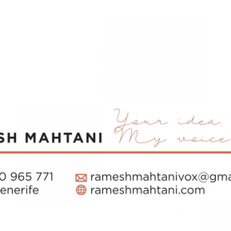 RameshMahtaniVO - Home Studio in Spain