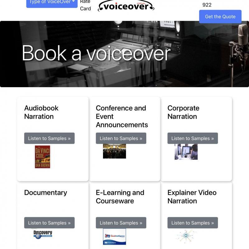 Voiceover.com.au - Production Studio in Australia